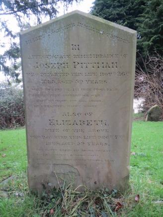 Joseph and Elizabeth's headstone