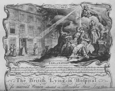 The British Lying-In Hospital in which Philips son was borncourtesy Wellcome Library, London