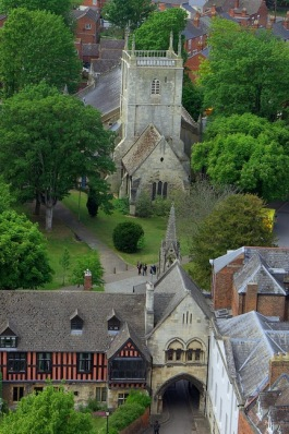St Mary de Lode from the tower of Gloucester Cathedral(courtesy Pete Wilcox)