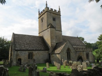 The church of St Eadburgha, Broadway, where Joseph's children were baptised